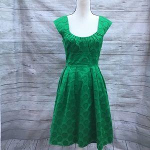 Calvin Klein Fit & Flare Retro Dress Green 10